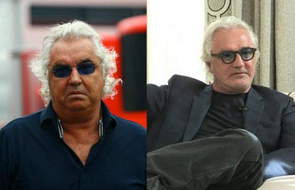 Flavio Briatore prima e dopo la dieta Lemme